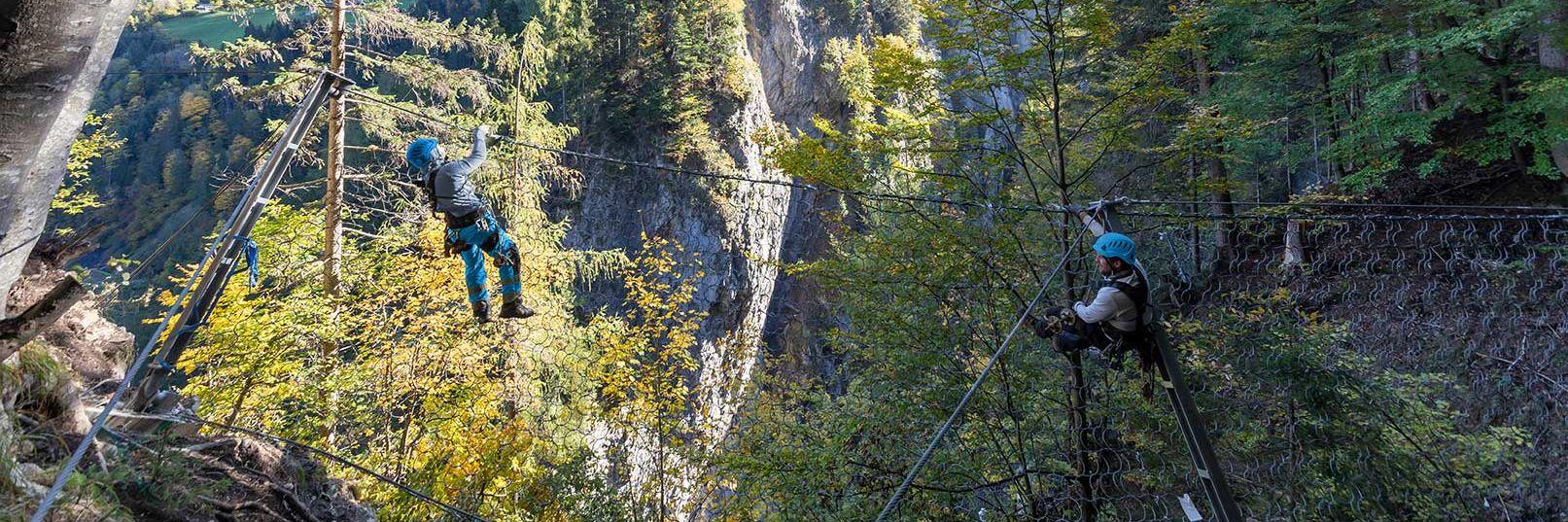 Steinschlagschutz für tiefste Schlucht der Alpen Slider