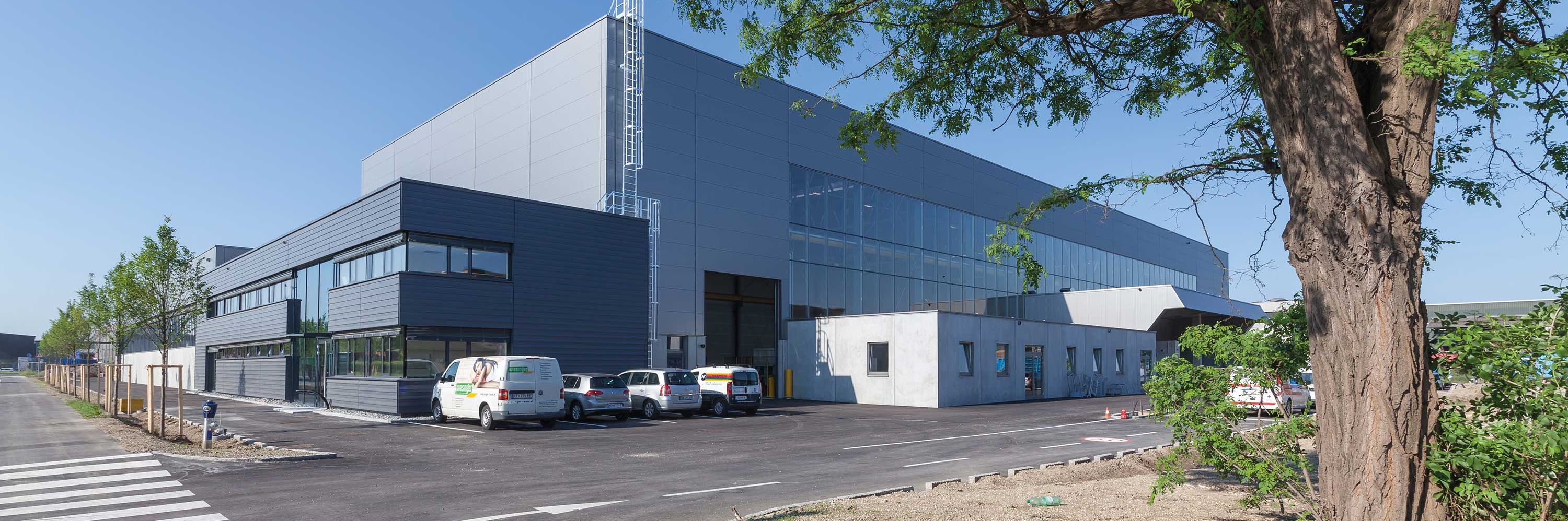 Industrial building constructed for car supplier Slider