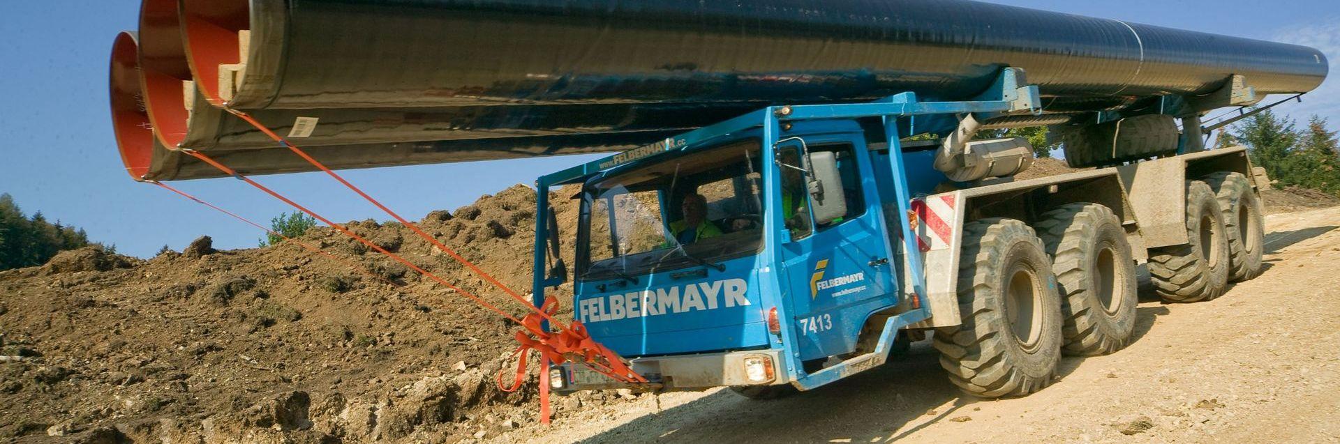 Rohrtransport für den Pipelinebau Slider