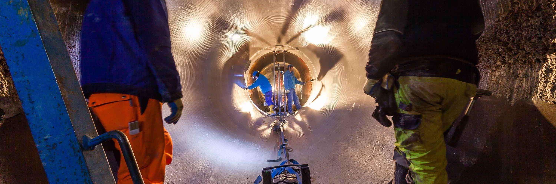 Rohrsanierung für Wasserkraftwerk Slider