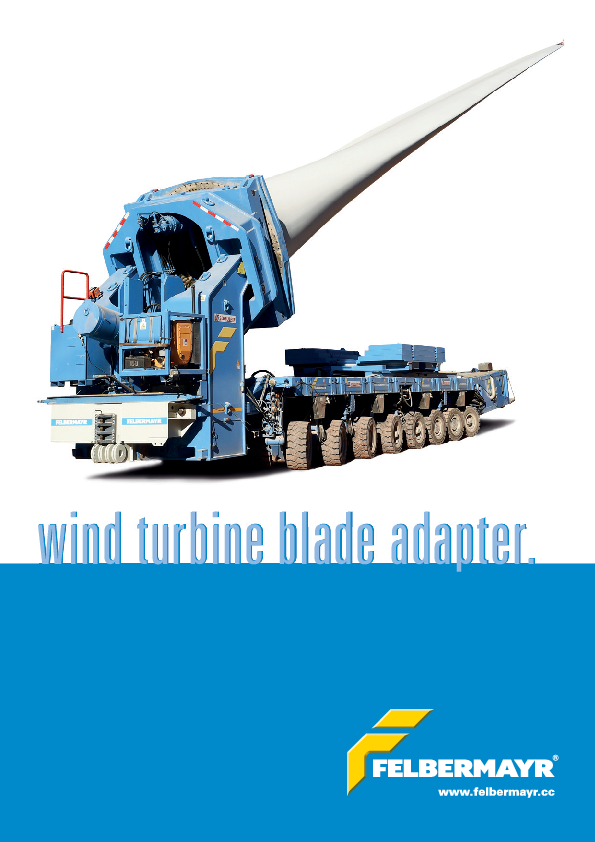 Folder wind turbine blade adapter