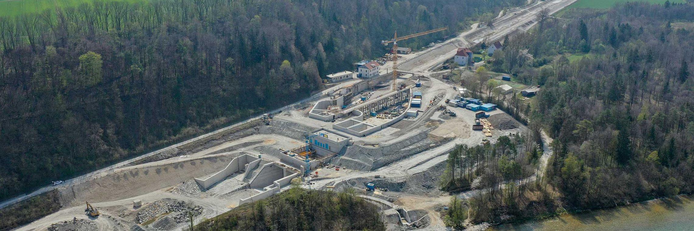 Kraftwerk an der Traun errichtet Slider