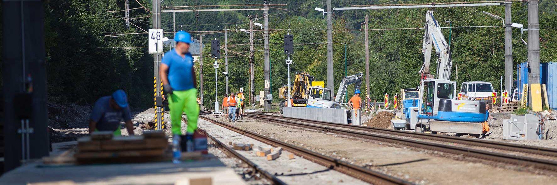 Bauarbeiten für Bahnhofsoffensive Slider
