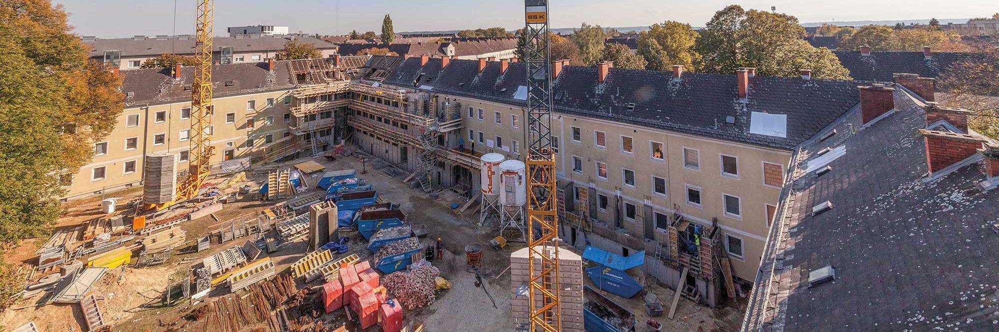 Revitalisierung von Kriegsbauten Slider