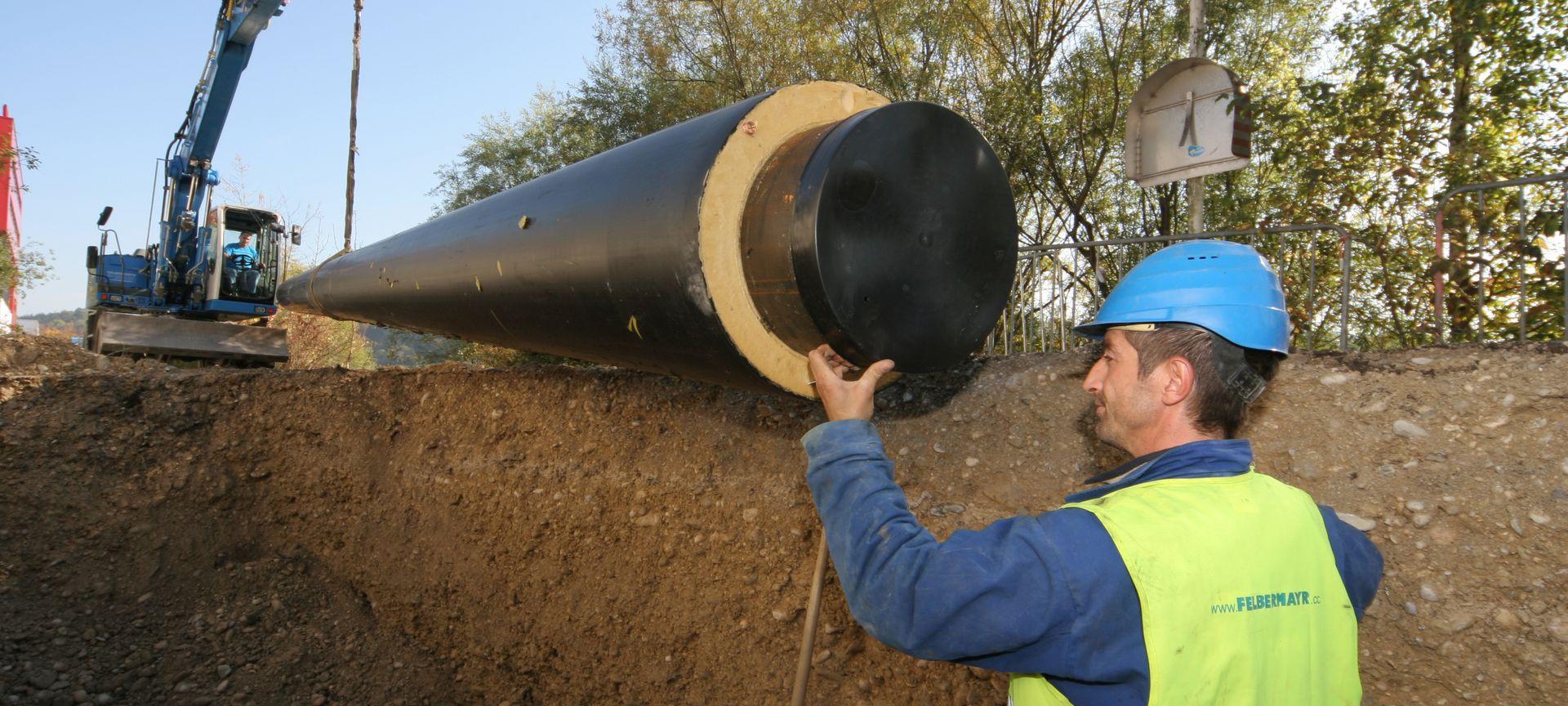 Leitungsbau für Fernwärmeversorgung Slider