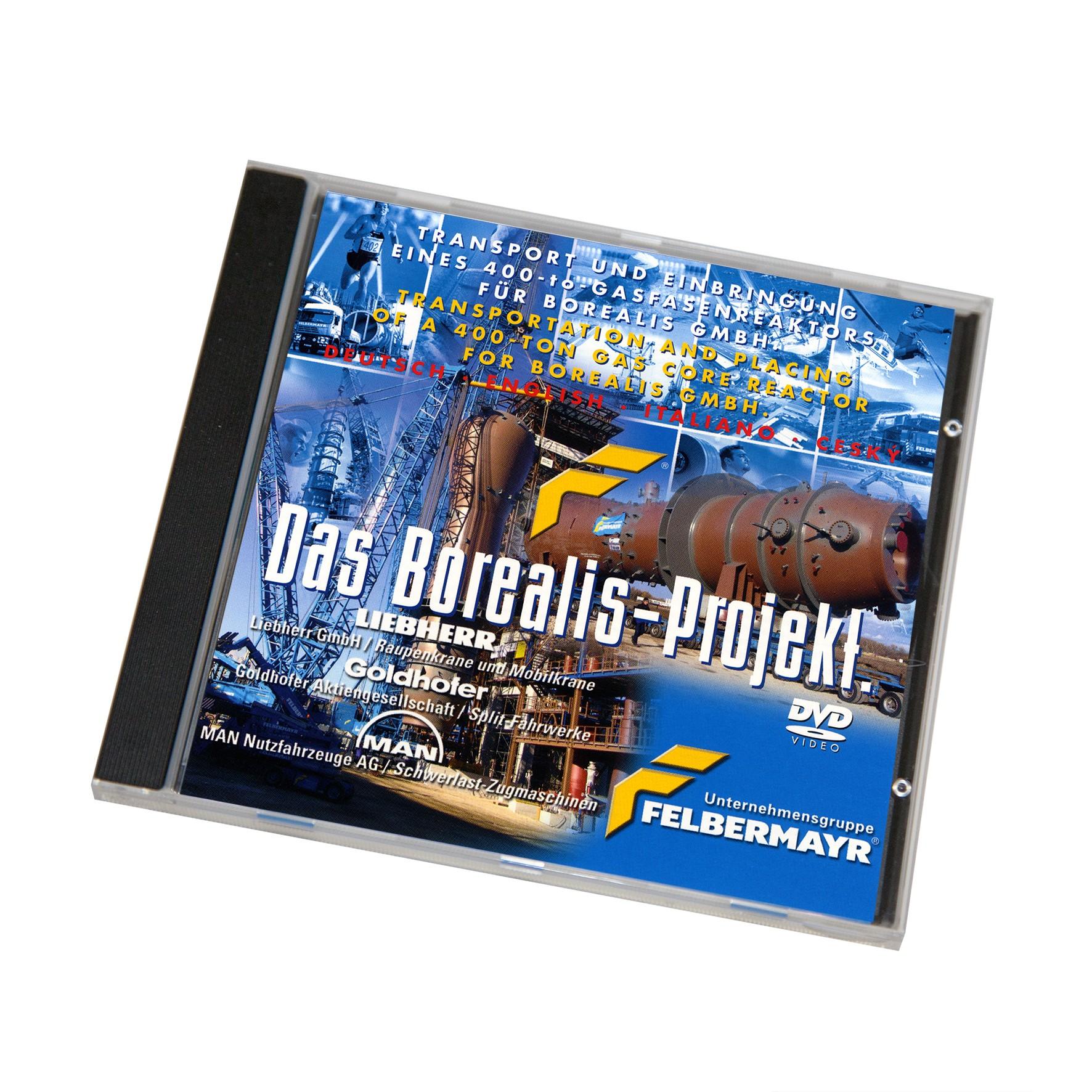 """DVD """"Das Borealis-Projekt - Transport und Einbringen eines 400-to-Gasreaktors für Borealis GmbH"""""""