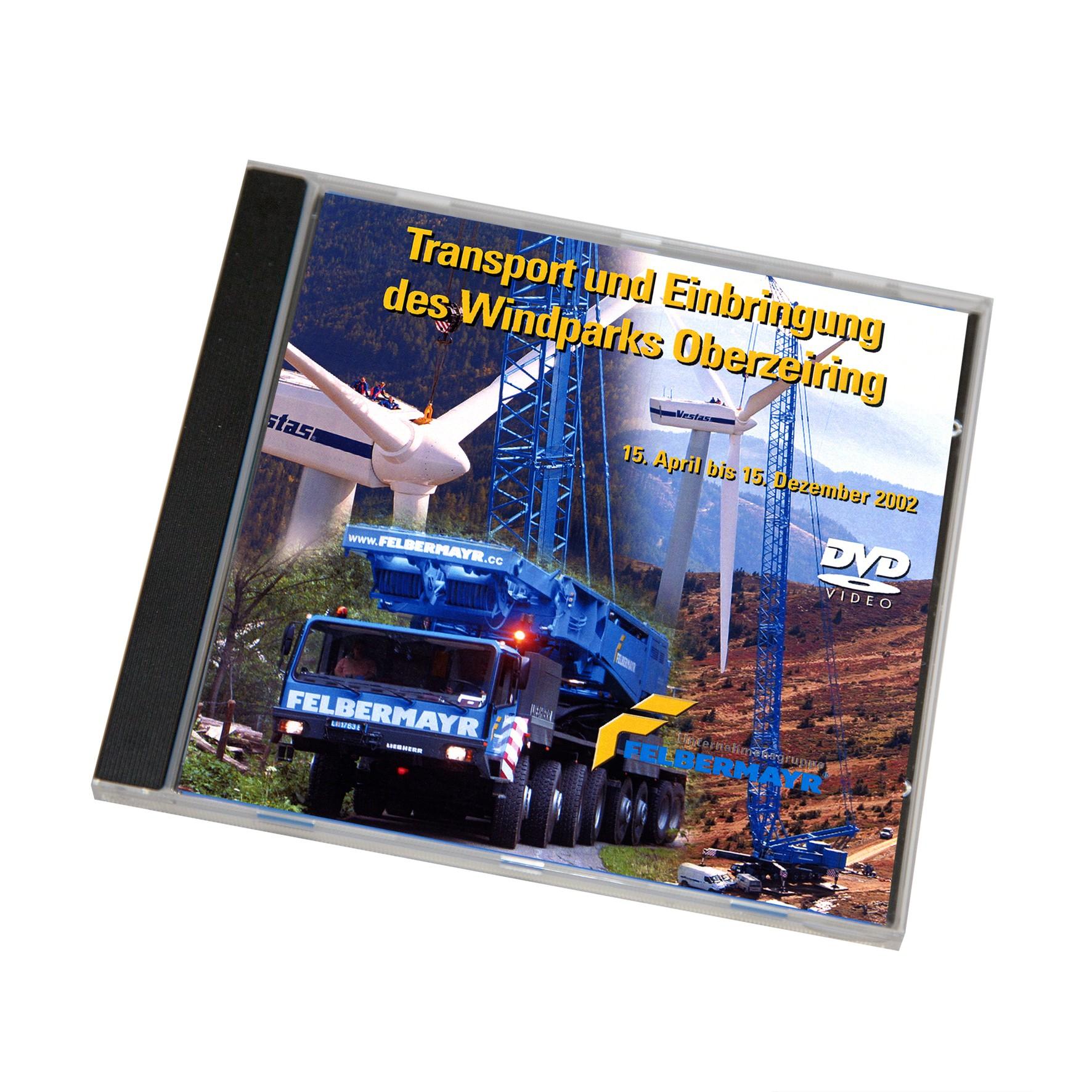 """DVD """"Transport und Einbringung des Windparks Oberzeiring"""""""